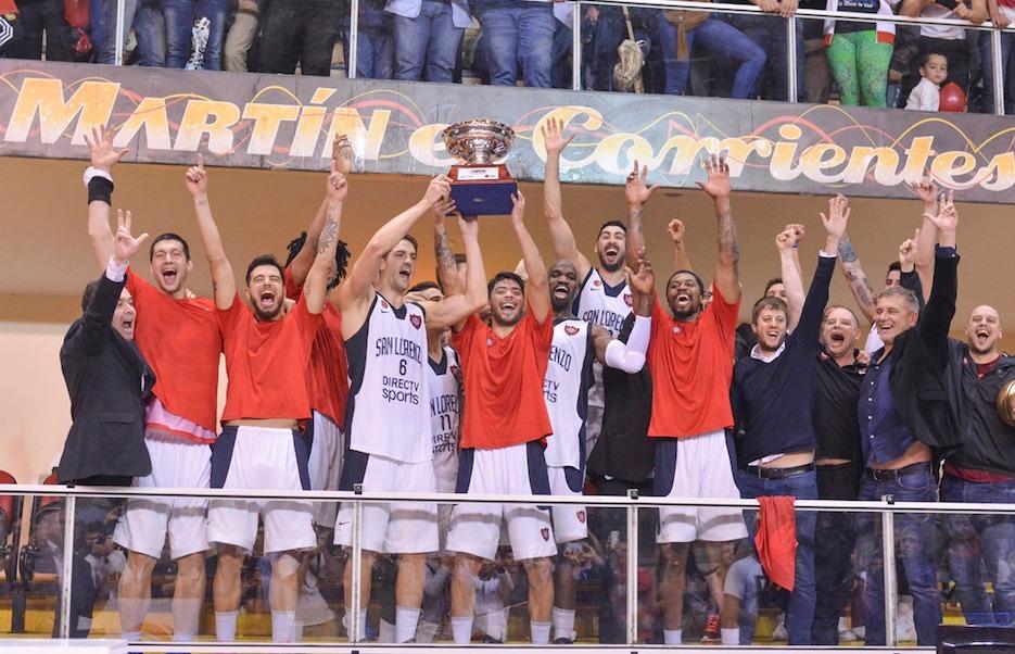 San Martín cayó ante San Lorenzo que festejó el tricampeonato